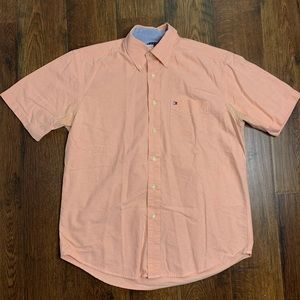 Tommy Hilfiger Classic Logo Short Sleeve Button Up
